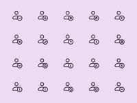 Myicons — Single User vector line icons