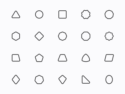 Myicons — Geometric, Shapes vector line icons