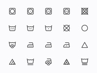 Myicons — Laundry, Care, Fabric vector line icons