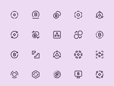 Myicons — Crypto, Currency vector line icons