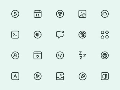 Myicons — UI, Interface, Essential vector line icons