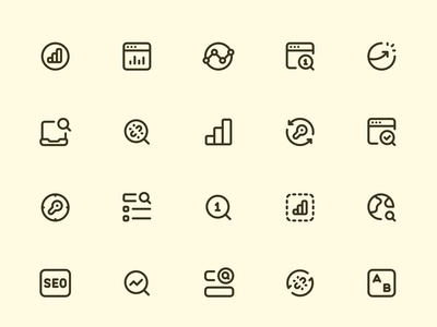 Myicons — SEO vector line icons