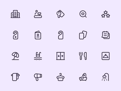 Myicons — Hotel vector line icons