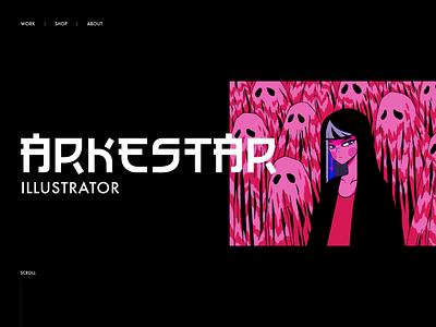 Arkestar Portfolio Home page portfolio illustrator