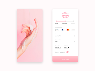 Etude House Card Credit Checkout