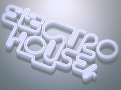 Electrohouse electro house party typography retro vintage text lettering custom typography text effect