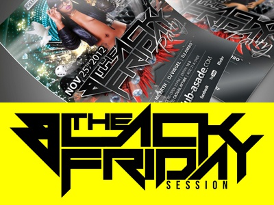 Black Friday black friday party flyer posters rb session hip hop