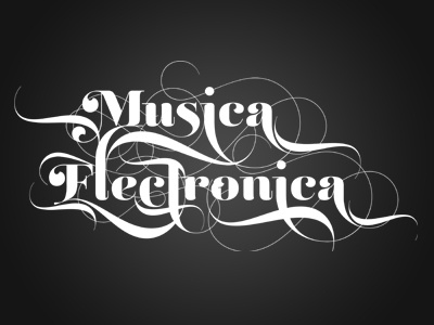 Musica Electronica musica electronica party flyer typograpgy music custom typograpgy text effect