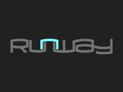 Runway typography text effect retro vintage lettering custom type logo logo design