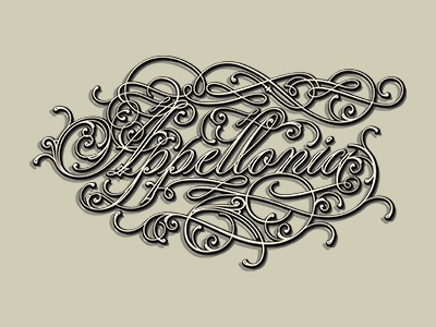 Appellonia retro decorative typo lettering vintage type typography