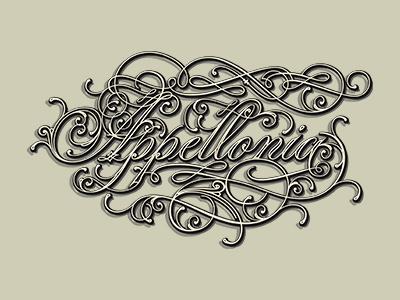 Appellonia retro decorative typo lettering vintage type typography