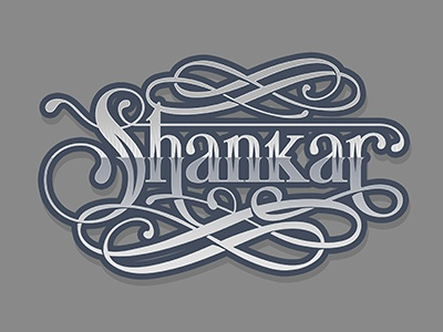 Shankar vintage typography typo type retro ornament lettering floral decorative shankar