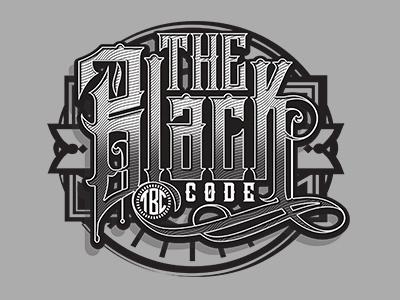 The Black Code halftone vintage typography typo type retro ornament lettering floral decorative