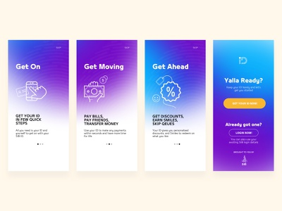 Onboarding Banking App iphone icon flat clean dubai illustration ios interface ux ui design ui