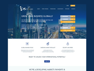 IDS Forex Trading clean web template psd landing page app ux typography design ui