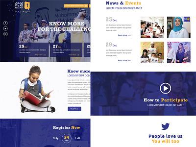 Reading Challenge Landing Page landing page. ios dubai interface web icons clean profile ux ui