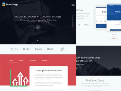 Blueorange Landing Page web homepage clean dubai ios creative website icons interface ux ui