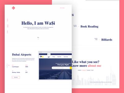 Portfolio Design minimal flat modern clean interface portfolio web ux ui