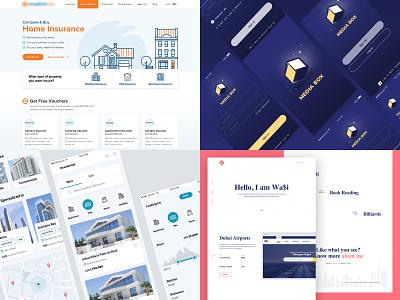 2018 landing page. profile illustration flat iphone dubai clean web ios interface ux ui