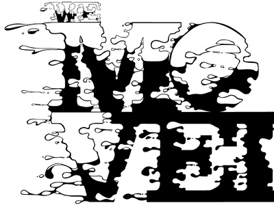 We Moved (2) vector wip hand-drawing type font