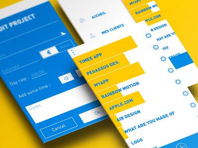 Timee mobile design webdesign design mobile app interface ui