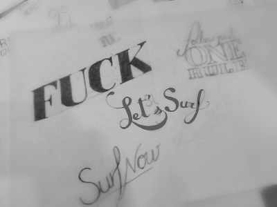 Hand Lettering type sketch fonts hand lettering