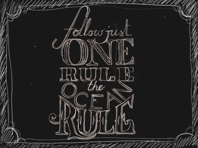 One rule type sketch fonts hand lettering
