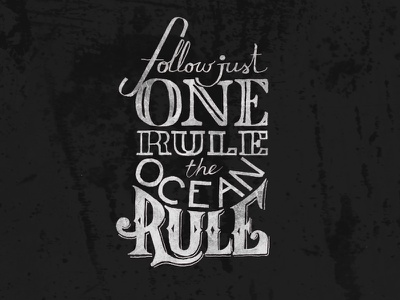 One Rule hand-lettering typo lettering type font hand letter letter handwritting hand