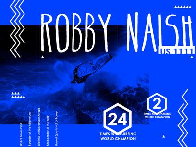 Robby Naish bio page site naish windsurf surf webdesign ui