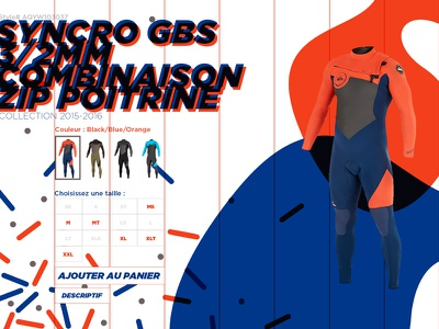 Quiksilver product page wetsuit product ui quiksilver webdesign