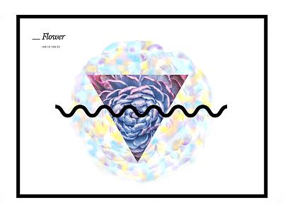 Flower graphic design type flower