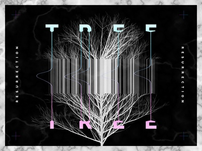 Tree graphic design type font tree