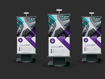 Trade Exhibition Display Roll up Stand banner ad illustrator branding sign design tent tabletop retractable exhibition exhibit design banner design stand rollup backdrop trade show tradeshow design