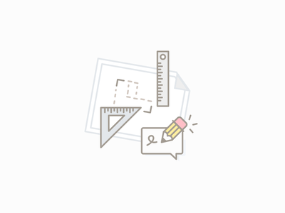 Draw your plan house plan paper rule pencil draw illustration pictogram picto icon
