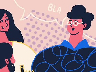 Work in progress talking people procreate ilustration
