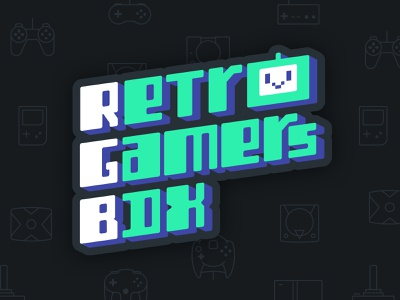 RGB Logo brand retro gaming video game tv logo