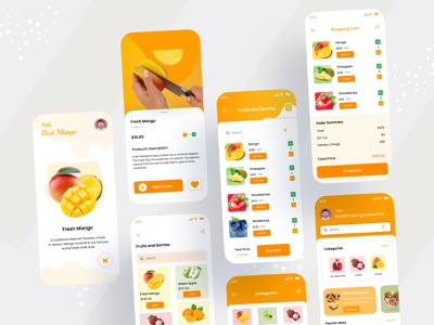 Fruits Apps Design branding android design ios design android ios design ux design app ui app design mobile app ui ui design ui ux ux ui mobile app mobile app design mobile fruits app design fruits app fruits