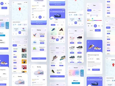 Nike Shoe App Ui android ios mobile ui mobile shoe apps shop shopping e-commerce fasion shipping ui design ui ux nike shoe app design nike shoe app nike nike shoe shoe app ui shoe app shoe