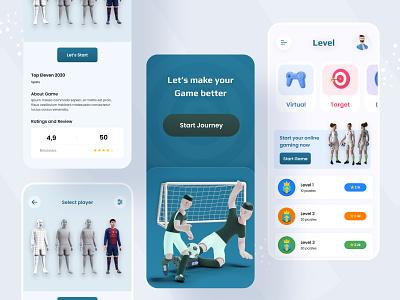 Virtual gaming App design 3d games syful app ui ux design ui design ui app design app mobile deisgn mobile app mobile app design mobile game design gaming app design virtual gaming app gaming game