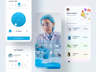 Medical Consultation Apps - Doctor Schedule and pills reminder medical care medical consultation syful apps design mobile app design app design app mobile design mobile app mobile medical app design doctors consultation clinic health healthcare hospital medical apps doctor apps medical