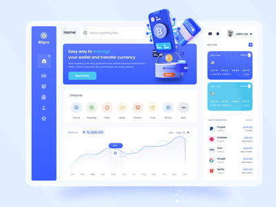 Cryptocurrency Dashboard Design syful bitcoin wallet crypto exchange web app dashboard ui dashboard design dashboard chart cryptocurrency cryptocurrency dashboard crypto dashboard bitcoin dashboard wallet dashboard currency converter crypto wallet money wallet crypto currency crypto currency