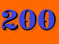 celebrating 200 followers!