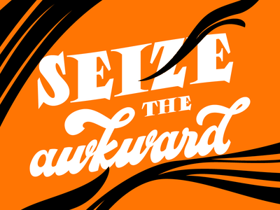 Seize the Awkward goodtypetuesday typography type illustration calligraphy lettering