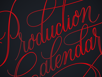 Production Calendar