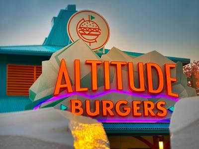 Altitude 02 restaurant signage environmental design identity branding logo