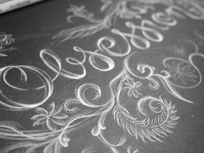 Obsession Lettering Detail calligraphy illustration draw filigree flourish obsession personal type typography script hand lettering lettering