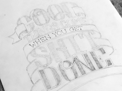 Truth wip illustration draw ribbon flourish obsession personal type typography poster hand lettering lettering