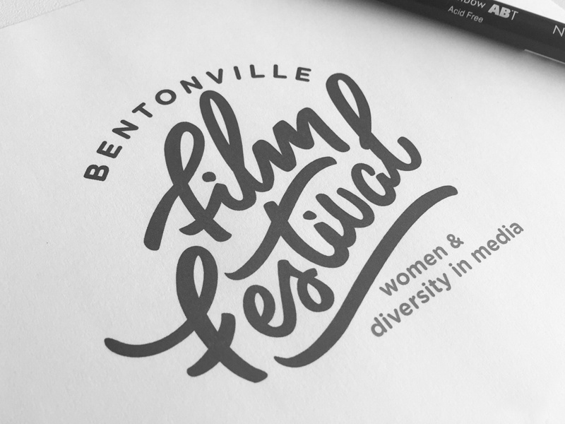 A little bit of an unused thing from a while back. brush lettering festival film logo script handlettering hand lettering branding