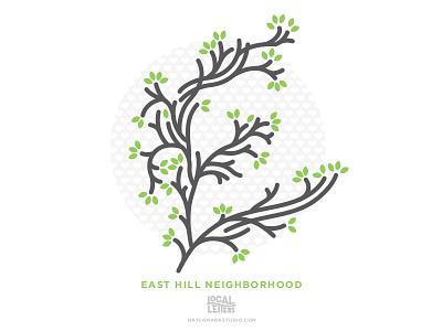 Local Letters - East Hill typography pensacola letter line illustration illustration handlettering neighborhood city trees e branding alphabet