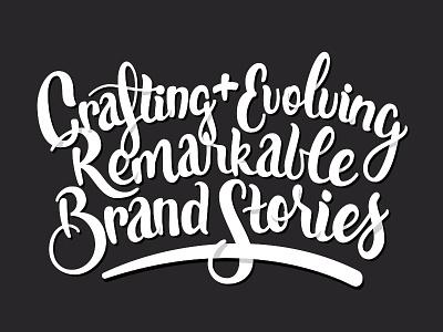 Crafting & Evolving branding type draw typography illustration script hand lettering lettering